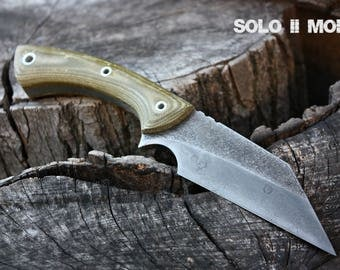 "Handmade FOF ""Solo II mod"" working, hunting and survival knife"