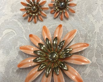 Vintage Sarah Coventry Brooch and Earrings