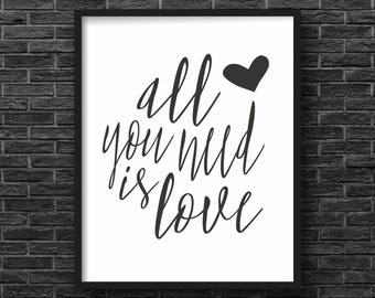 The Beatles, All You Need Is Love Print
