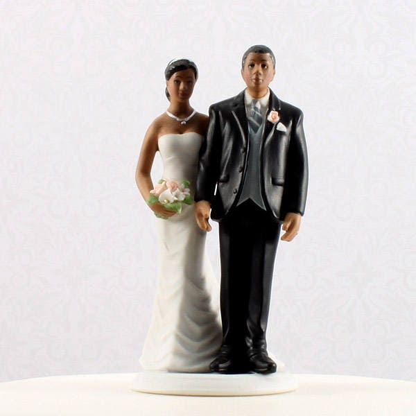 Bridal Couple Wedding Cake Topper African American The Love Pinch