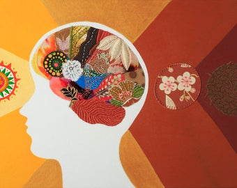 Neuro Art. Fine Art. Original and One of a Kind. Brains. Neuroscience. Mindfulness. Inspirational. Mindful Alchemist