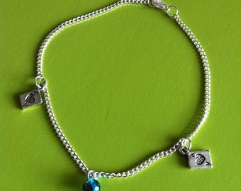 Brown POKER ankle chain