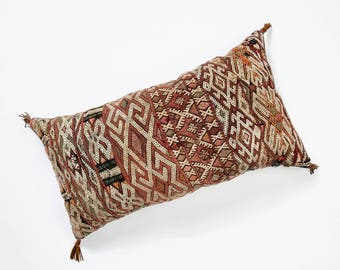 Moroccan blanket throw pillow