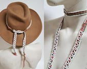 vintage Beaded Handwoven Andean Quechua Senkapa Strand / Hat Band / Choker Necklace / Belt