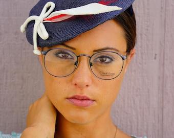 Vintage 1990's Daniel Hunter Eyeglass Made In Japan Glasses New Old Stock Frames All Metal Semi Round