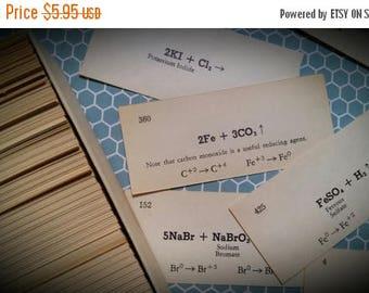ON SALE 25% OFF 2 Dozen Vintage Chemistry Flash Cards