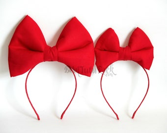 Snow White Bow // Kiki's Delivery Service Bow // Big Red Bow // by Born TuTu Rock