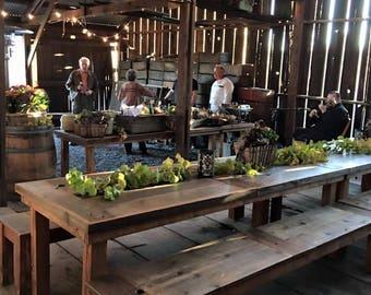 "Reclaimed Wood Rustic Farm Dining Table - 60"" x 30"" - Handmade"