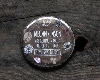 WOODLAND FOREST design - Save the Date Magnets x 40