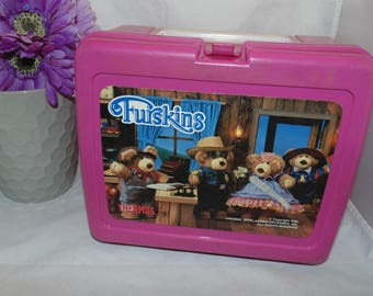 Vintage 1986 Furskins LUNCH BOX Thermos Brand Lunch box only