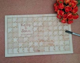 wedding jigsaw puzzle, wedding guest book personalised, guestbook alternative, personalised wedding jigsaw, wedding guest book alternative