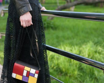 "Handbag-purse ""Mondrian"""