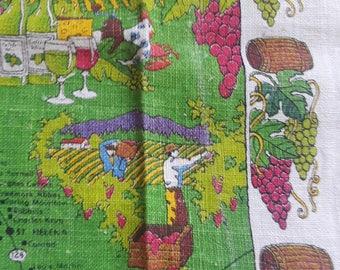 Wines of California Tea Towel Kay Dee