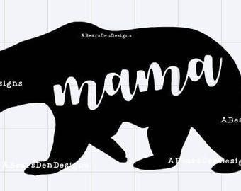 Mama Bear DIY Vinyl Decal