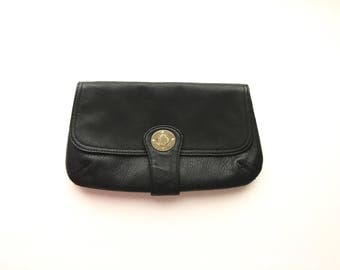 Black Leather Clutch, Old Navy Leather Clutch, Black Leather Old Navy Clutch