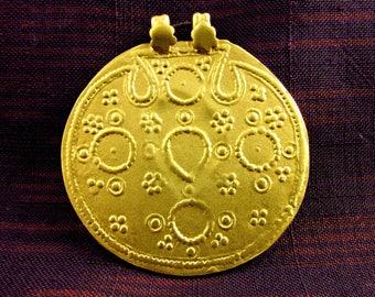 Antique Gold Vermeil Tribal Hindu Amulet