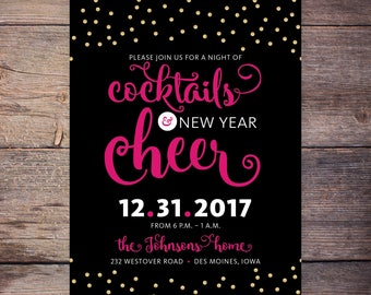 New Years Eve Party Invitation New Years Eve Invitation New Year's Eve Invitation New Year's Eve Party Invitation New Years Invitation