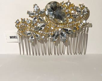 Gold and silver Hair comb