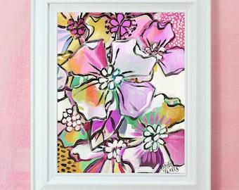 Floral Collage 5 - Makewells Art Print