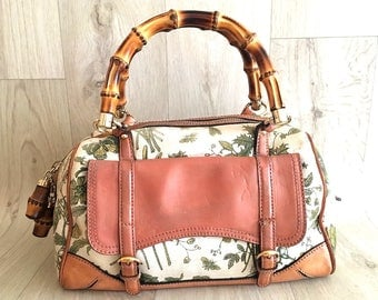 Authentic Gucci Bamboo Flora Bag