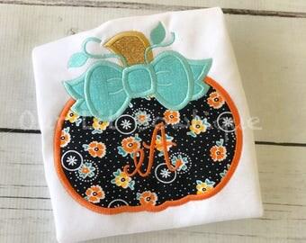 Pumpkin Halloween Shirt - Girls Pumpkin Shirt - Pumpkin Birthday Shirt -  Fall Shirt - Monogram Pumpkin Shirt