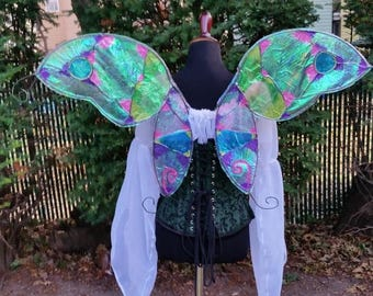 APONI - Butterfly style cellophane fairy wings realistic