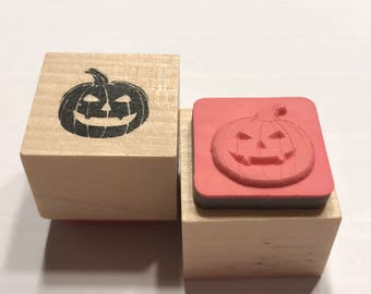 small Jack o Lantern rubber stamp, 20 mm (BB1/4)