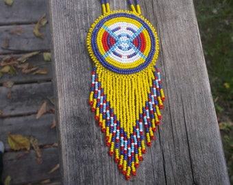 Shoshoni necklace, native american beadwork