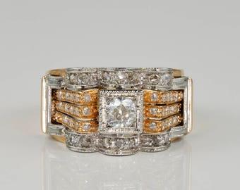 Spectacular Art Deco diamond dress ring