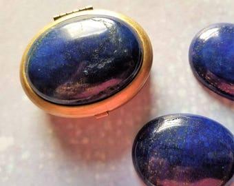 Natural, Un-Dyed, Lapis Lazuli Cabochon (40mm x 30mm) -- 1 Gemstone