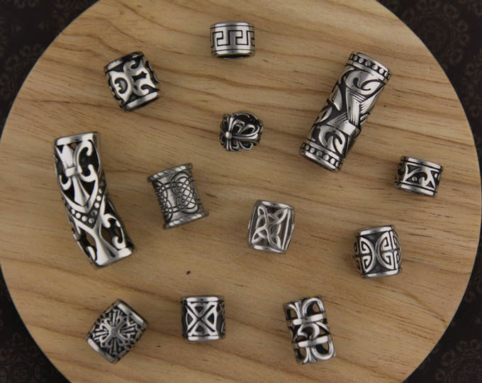 Ultimate 12 Stainless Steel Dreadlock Bead Mix 8mm/9mm Hole (5/16 - 3/8 Inch)