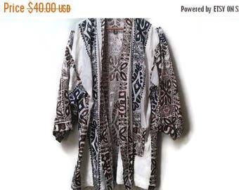 SALE Ethnic kimono robe jacket S M L     unisex