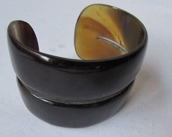 Tortoise Shell Cuff Bracelet 1960s