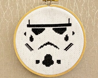 "Stormtrooper Cross Stitch - 5"""