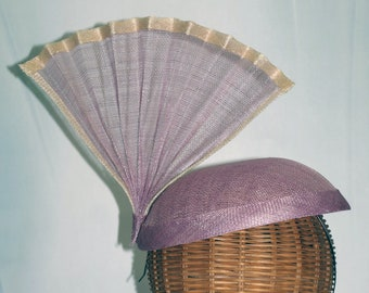 Fascinator fan lavender accessory