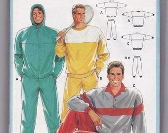 FF Burda 6433 Man's Jogging Suit Top & Pants Vintage Sewing Pattern, Winter Clothes for Men, Size Chest 34 36 38 40 42 44 46 48, UNCUT