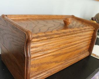 Home made Extra Large, Double Row recipe box, Vintage Wooden Recipe Box,Solid wood recipe box, large recipe box,
