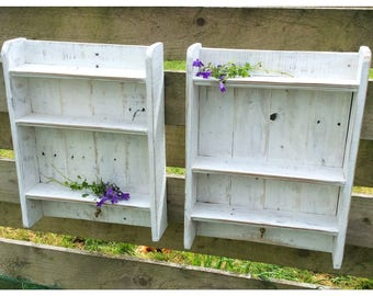 Rustic Reclaimed Wood Shelves Country Shabby Chic