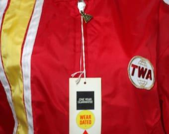 Vintage TWA Jacket, Windbreaker, New w/ Tag - Size X Large