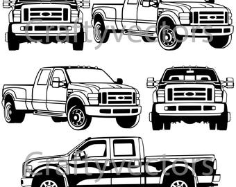 Ford Super Duty Truck Vector