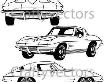 Corvette Stingray 1964 vector file