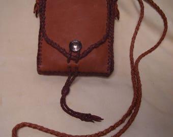 elk hide bag