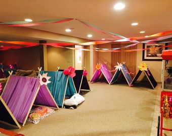 7 Glamping tents, glamping party, glamping, tent, kids tent, sleepover