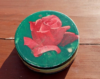 ZELTITA Latvian candy tin Vintage caramel candy tin 1969 Soviet vintage tin Rose tin Rose candy box Old tins