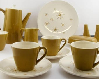Mid Century Starburst / Pattern Star Glow Royal Ironstone China 60 piece