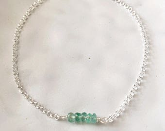 Emerald Gemstone Bracelet