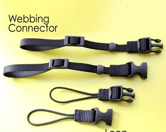 ON SALE Extra Set of Webbing or Loop Connectors for Camera Strap