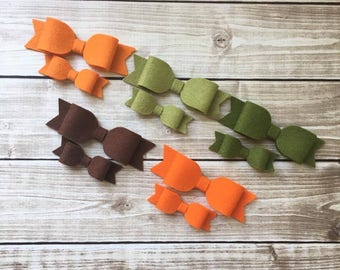 Fall Wool Felt Bows