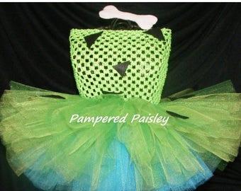 Halloween sale Pebbles inspired tutu dress - Flintstone tutu - Flinstone Halloween Costume - Baby Pebbles