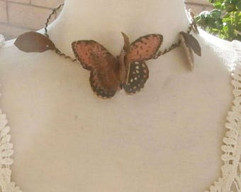 Butterfly and leaf Choker